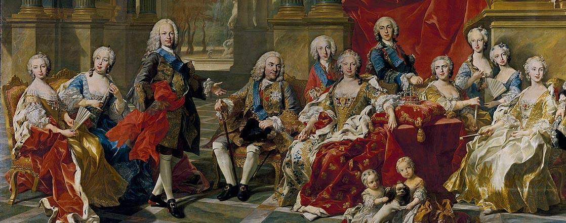 Detail of The family of Fernando V, by Louis-Mihel van Loo