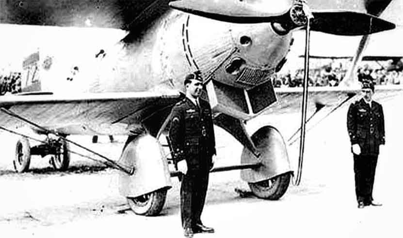 The pilot Ignacio Jiménez and the engineer Francisco Iglesias, protagonists of the heroic flight from Seville to Brazil