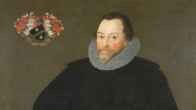 Portrait of Sir Francis Drake painted by Marcus Gheeraerts the Younger