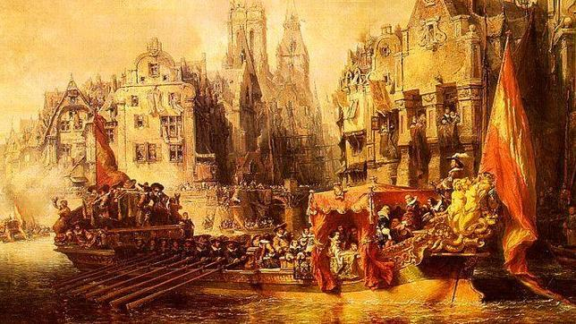 Arrival of the Duke of Alba in Rotterdam, by Eugène Isabey (Musée d'Orsay, in Paris)