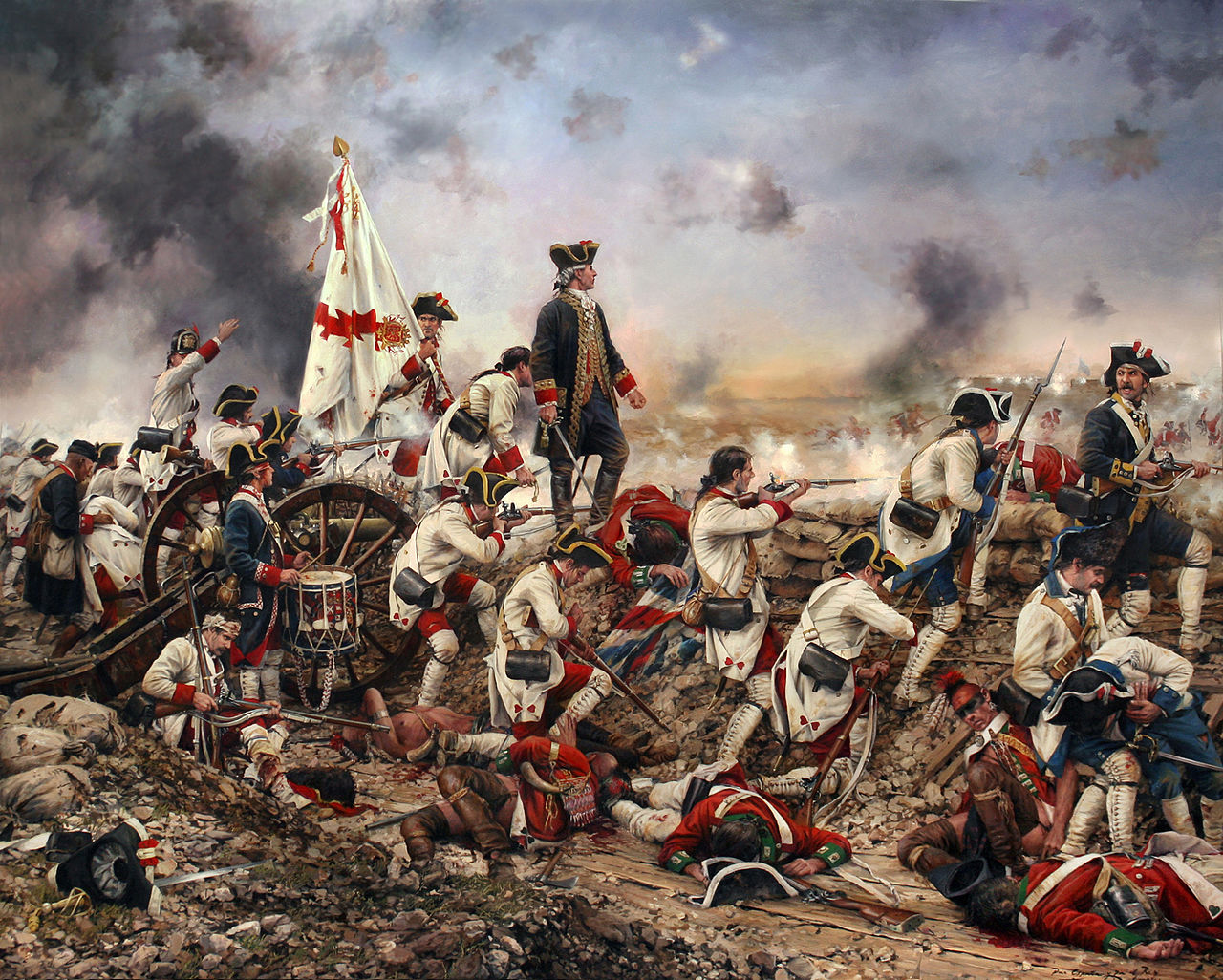 """""""For Spain and for the King, Galvez in America"""" by Augusto Ferrer-Dalmau"""