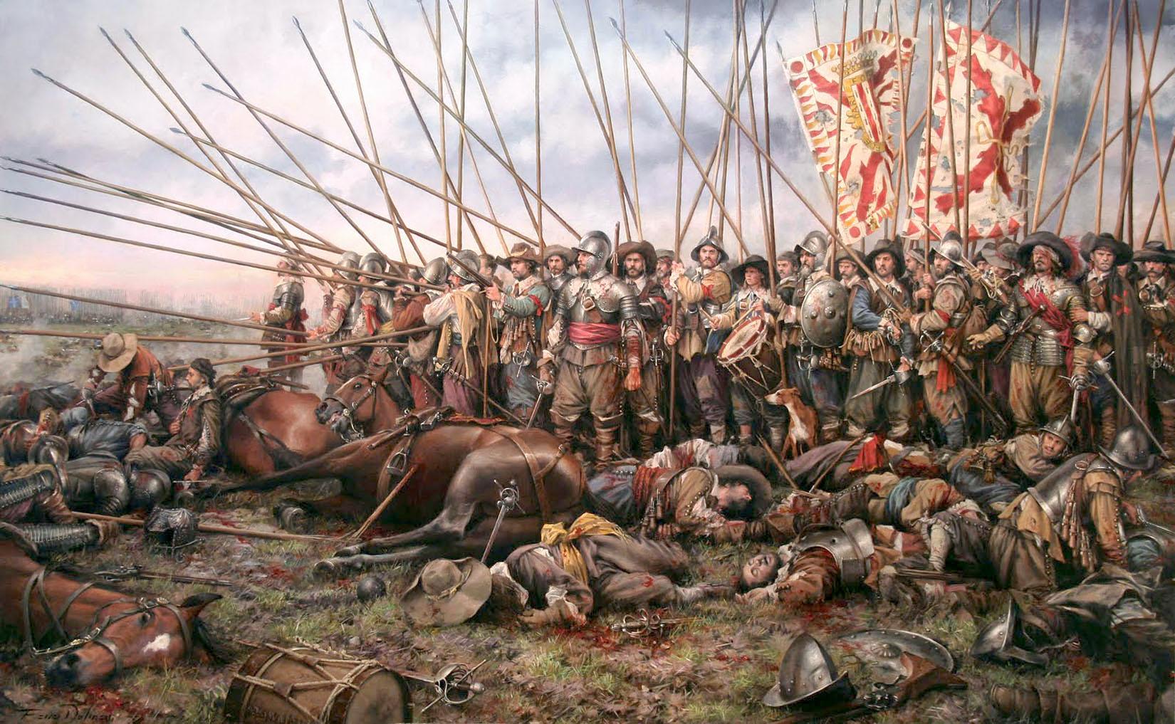 """""""Rocroi, el último Tercio"""", a painting by Augusto Ferrer-Dalmau"""