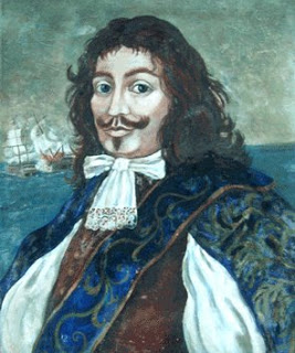 Sir Henry Morgan (Llanrumney, Wales, Kingdom of England, c. 1635 - Lawrencefield, Jamaica, 25 August 1688). Knighted by the English crown for his criminal activities on behalf of the British Empire.