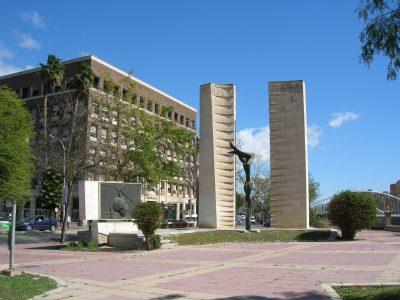 Monument in honour of Juan de la Cierva y Codorniu in Murcia, Spain, his hometown.