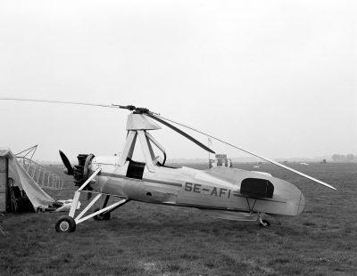 SE-AFI Cierva C.30 gyroplane from the aviodome (now Aviodrome) on display at Hilversum on 20 May 1984. Joost J. Bakker